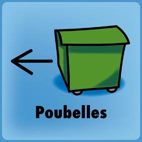 containers poubelle fl che gauche jaune 3 formats. Black Bedroom Furniture Sets. Home Design Ideas