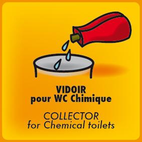 Vidoir pour wc chimique bleu 3 formats sanitaires hygi ne linge vaisselle wc toilettes - Produit pour wc chimique ...