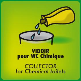 vidoir pour wc chimique bleu 3 formats sanitaires. Black Bedroom Furniture Sets. Home Design Ideas